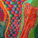 327 - STRING ART VI - DAVE EDWARDS - COLOURED PENCILS - 2011 by BLYTHART