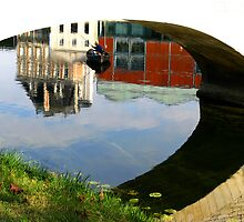 Under the Bridge Reflections - Jarnac by Marilyn Harris