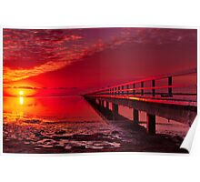 """""""Swan Bay Red"""" Poster"""