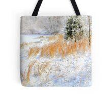Peaceful Snow Scene Tote Bag
