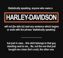 Harley Statistics by Octochimp Designs