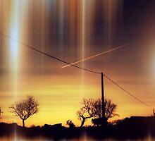 cielo con lineas by Joan R Bada