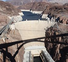 the hoover dam from the bridge by jones313