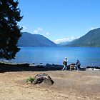Crescent Lake, Olympic peninsula  by Charles Hallsted