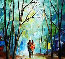 Towards Love - original oil painting on canvas by Leonid Afremov by Leonid  Afremov