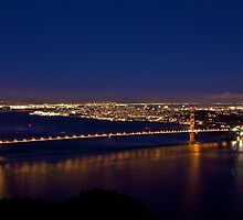 Golden Gate Bridge By Night by Svetlana Day