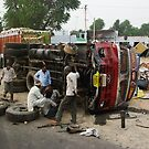Overloaded Lorry, Rajasthan by Christopher Cullen
