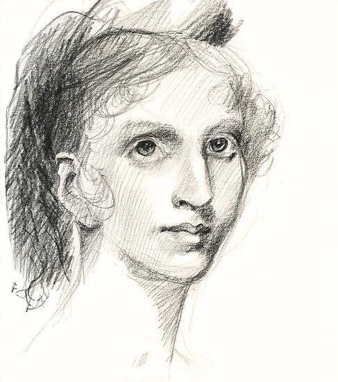 Sketch of portrait by Gilbert Stuart by Jeffrey Rowekamp