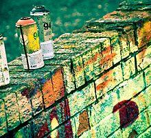 a work in progress....? old wall graffiti leamington spa by siobhanelizabet