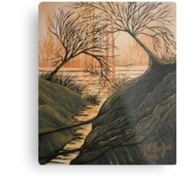 Brush Fire Brook Metal Print
