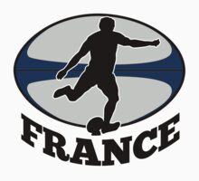 France rugby player running kicking ball by patrimonio