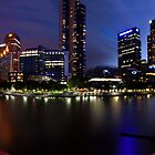 Melbourne City Southbank, Victoria, Australia - Sunset/Night  by Ben  Cadwallader