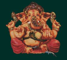 Lord Ganesha T-Shirt by RIYAZ POCKETWALA