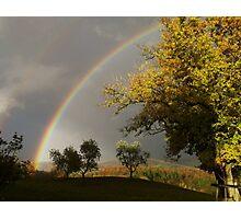 Tuscany Rainbow Photographic Print
