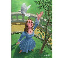 princess releasing bird Photographic Print