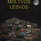 The Scream World Tour Molyvos Moonlight Lesvos by Eric Kempson