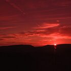 BOWLAND FELL SUNSET by Phil  WEBB