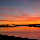 Mississippi River Sunset by Angel LaCanfora