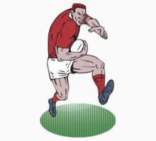 rugby player running with ball charging fending by patrimonio
