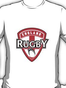 England rugby ball shield flag T-Shirt