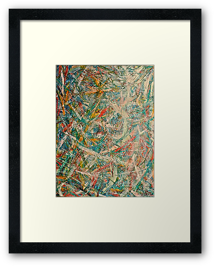 Abstract painting by Scott Johnson, 1995 by Scott Johnson