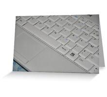 White Keyboard Greeting Card