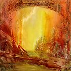 Golden light bridge by frithjof