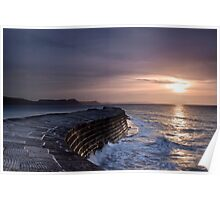Lyme Regis  The Cobb  First Light Poster
