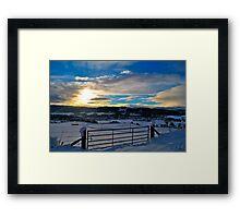 Scottish Sunset Framed Print