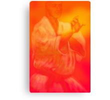 Male martial artist focuses on kata Canvas Print