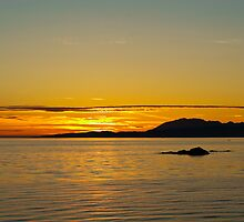 Sunset, Skye, Point of Sleat, Cullin mountains by Hugh McKean
