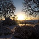 Snowy Sunrise - South Dartmoor by moor2sea
