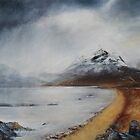 West Highland Loch Shore, Winter by Julie Arbuckle