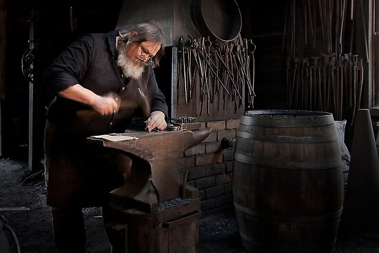 The Blacksmith - Sovereignhill by Hans Kawitzki
