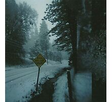 through the snowy road. Photographic Print