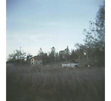 a house across the field. Photographic Print