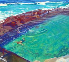 The Bogey Hole II, Newcastle, NSW, Australia by Carole Elliott