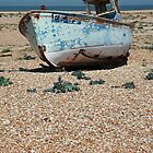 Fishing Boat on Dungeness Beach by Liz Garnett