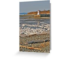 Belliveau Cove Lighthouse in Winter Greeting Card