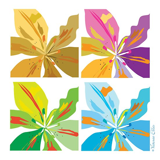 Four Lilies In A Square by Victoria Ellis