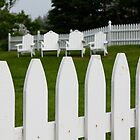 Alignment of Picket Fences & Adirondack Chairs by Thomas Janowski