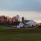 Amish Farm at Dusk by Gordon  Beck