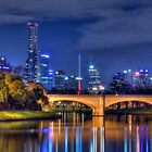 Melbourne On Yarra - Panograph by Sean Farrow
