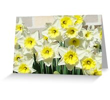 Spring Floral Daffodils Garden Yellow art Baslee Troutman Greeting Card