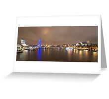 The London Eye and the River Thames Greeting Card