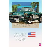 classic corvette Photographic Print