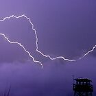 Refuge lightning by Larry  Grayam