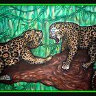 leopard fight by josh astuto