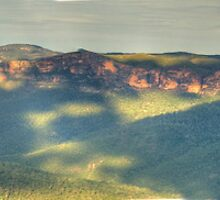 Shadowlands - Grose Valley from Govetts Leap (45 Exposure HDR Panorama) - The HDR Experience by Philip Johnson