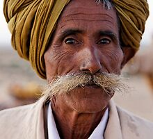Elderly Cameleer, Thar Desert by nekineko